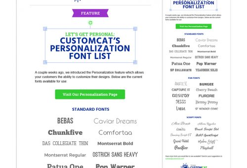 CustomCat Font Resource Email Mockup