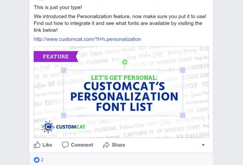 CustomCat Font Resource Social Post